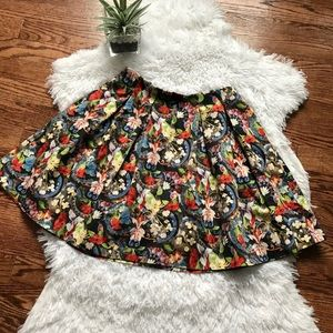 Alice + Olivia floral pleated mini skirt